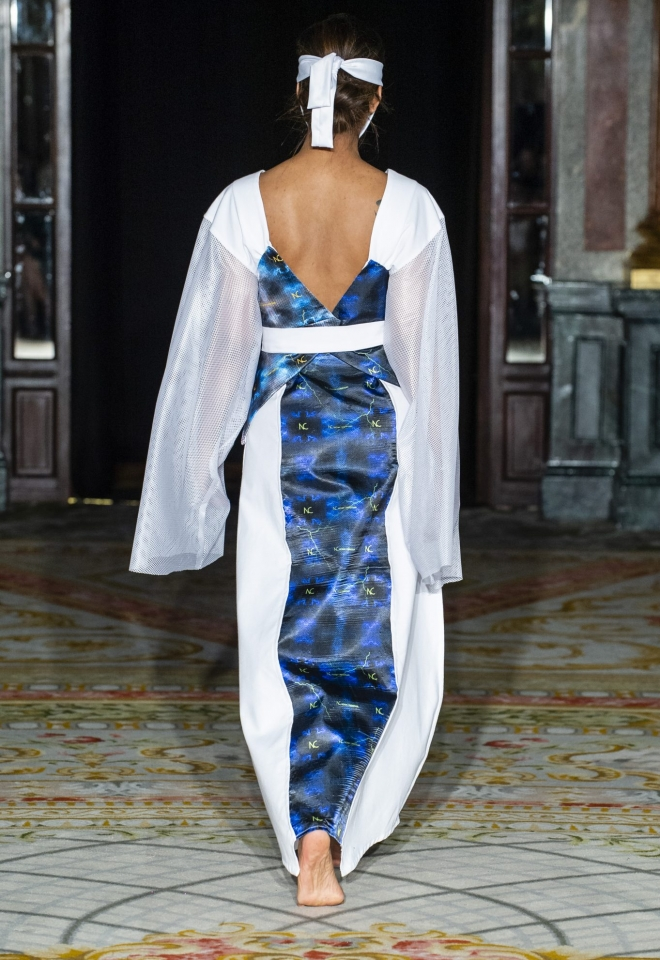 White dress Pret A Couture Noah Christian